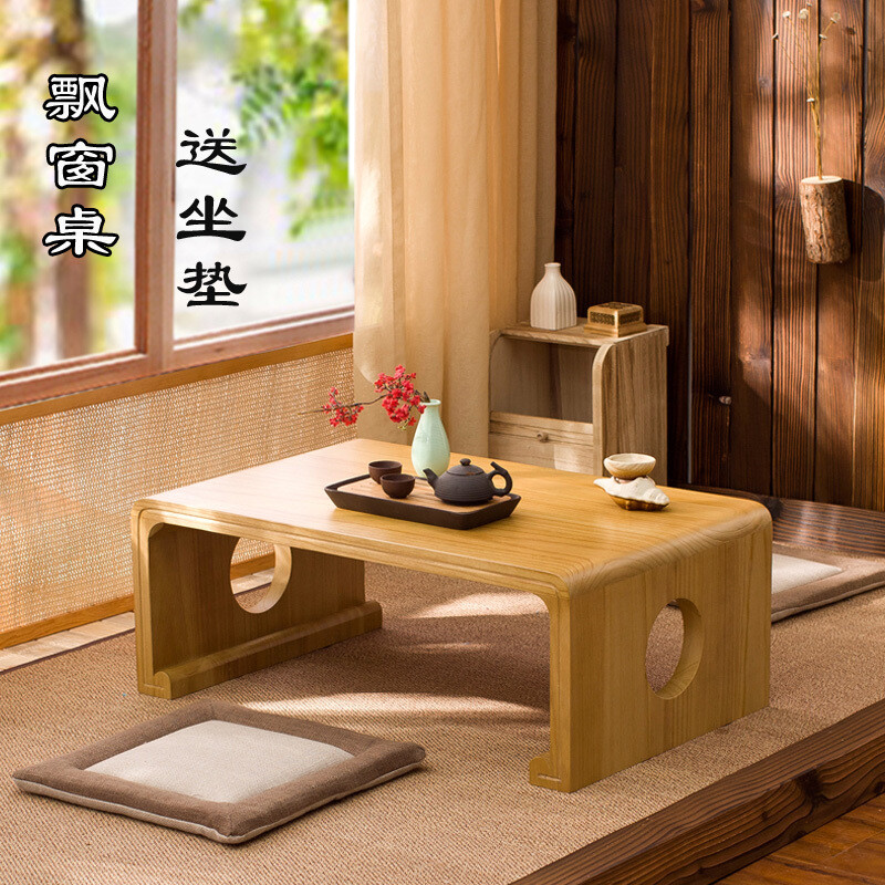茶几-實木飄窗桌榻榻米茶几簡約陽台小茶桌日式地台矮桌炕桌國學桌 3c精品閣~