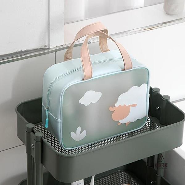 化妝包女便攜旅行防水洗漱包大容量化妝品收納包簡約【愛物及屋】