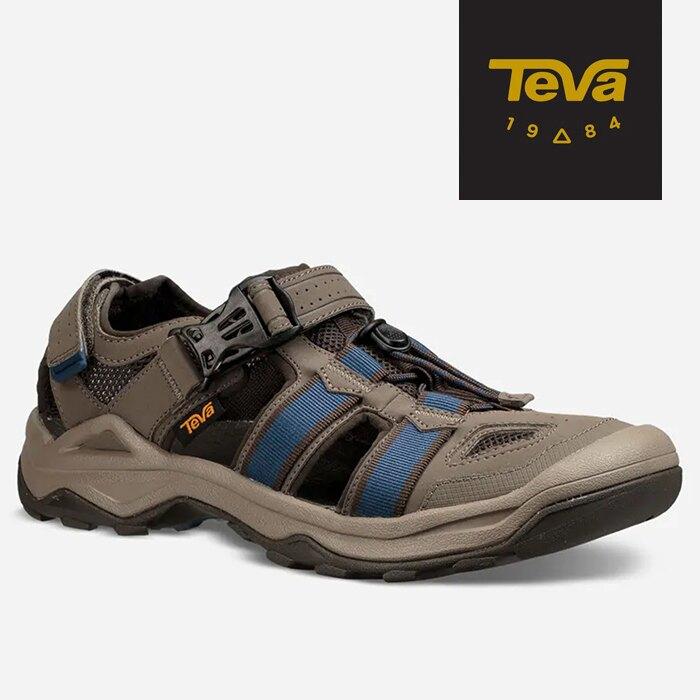 【TEVA 美國】OMNIUM 護趾涼鞋 水陸兩用越野涼鞋 男款 藍橄欖綠 (1019180BNGC)