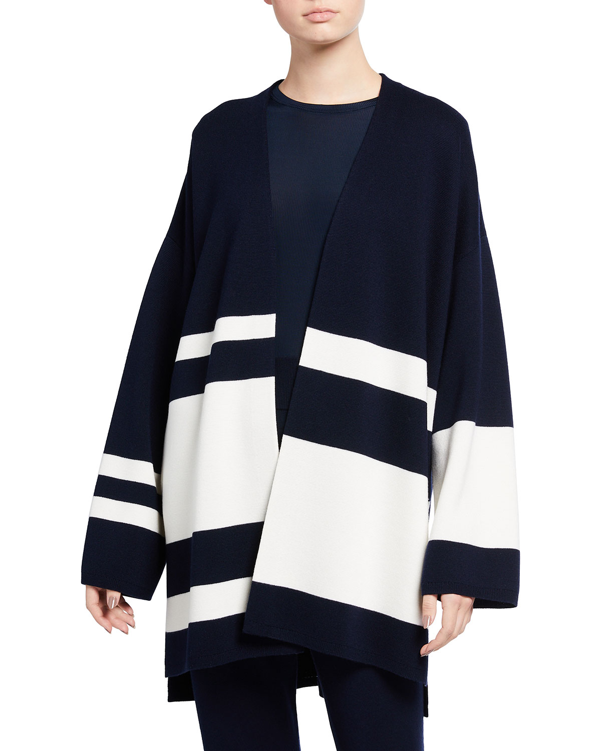 Striped Milano Knit Cardigan