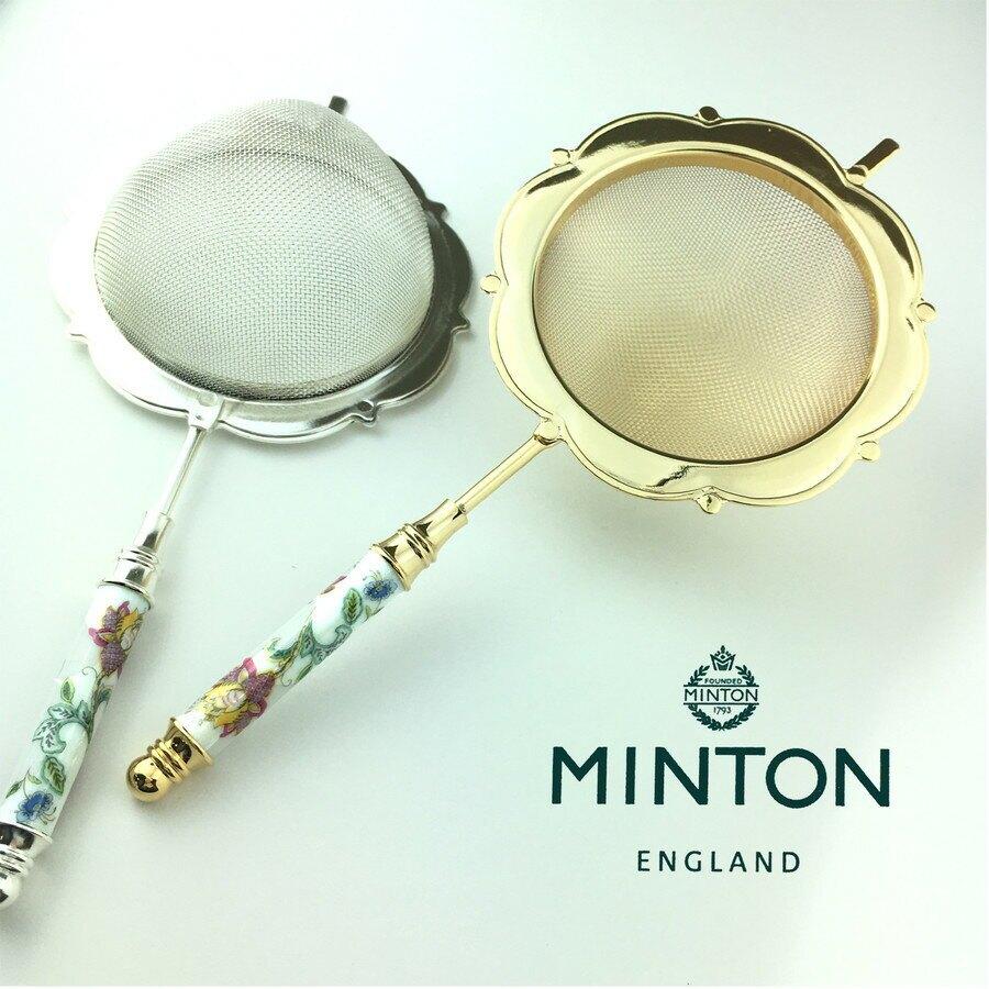 【日本製】【MINTON】日本製 哈頓廳系列 濾茶器 金色 - 日本製