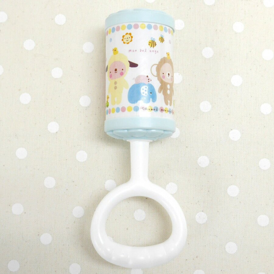 【日本製】【anano cafe】日本製 嬰幼兒啟蒙玩具 寶寶鈴 藍色 - 日本製