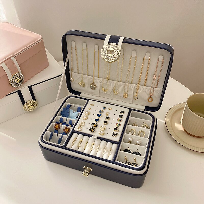 飾品收納盒大容量收納盒多層首飾耳環項高檔精致簡約奢華首飾盒女