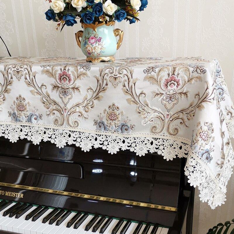 鋼琴罩歐式輕奢加厚提花鋼琴蓋巾琴罩半罩凳套鋼琴蓋布鋼琴防塵罩