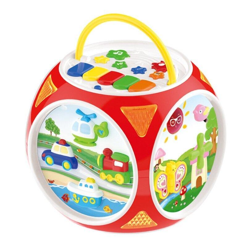 寶麗玩具 夢想派對 多面多功能玩具 (附電池)/一盒入(促1500) 1709 BAOLI 算數 音樂 仿真電話 認知時鐘 0-3歲啟蒙玩具-生