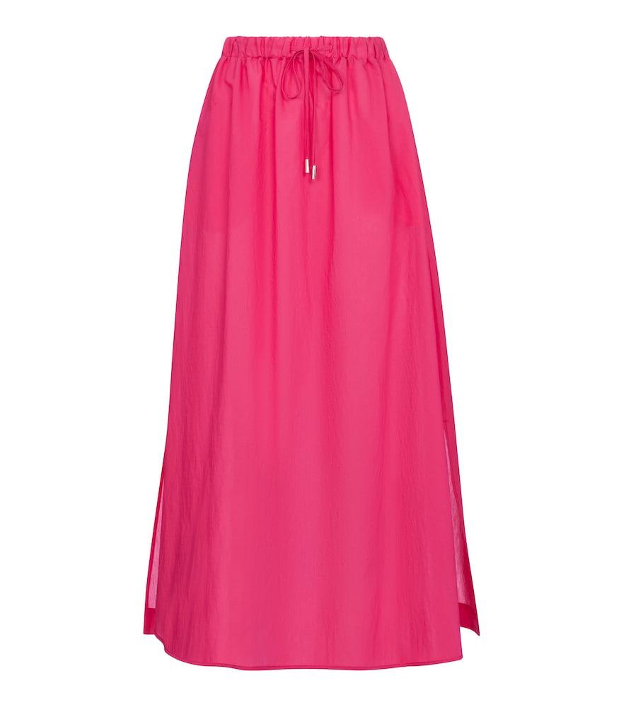 Utopico cotton-blend midi skirt