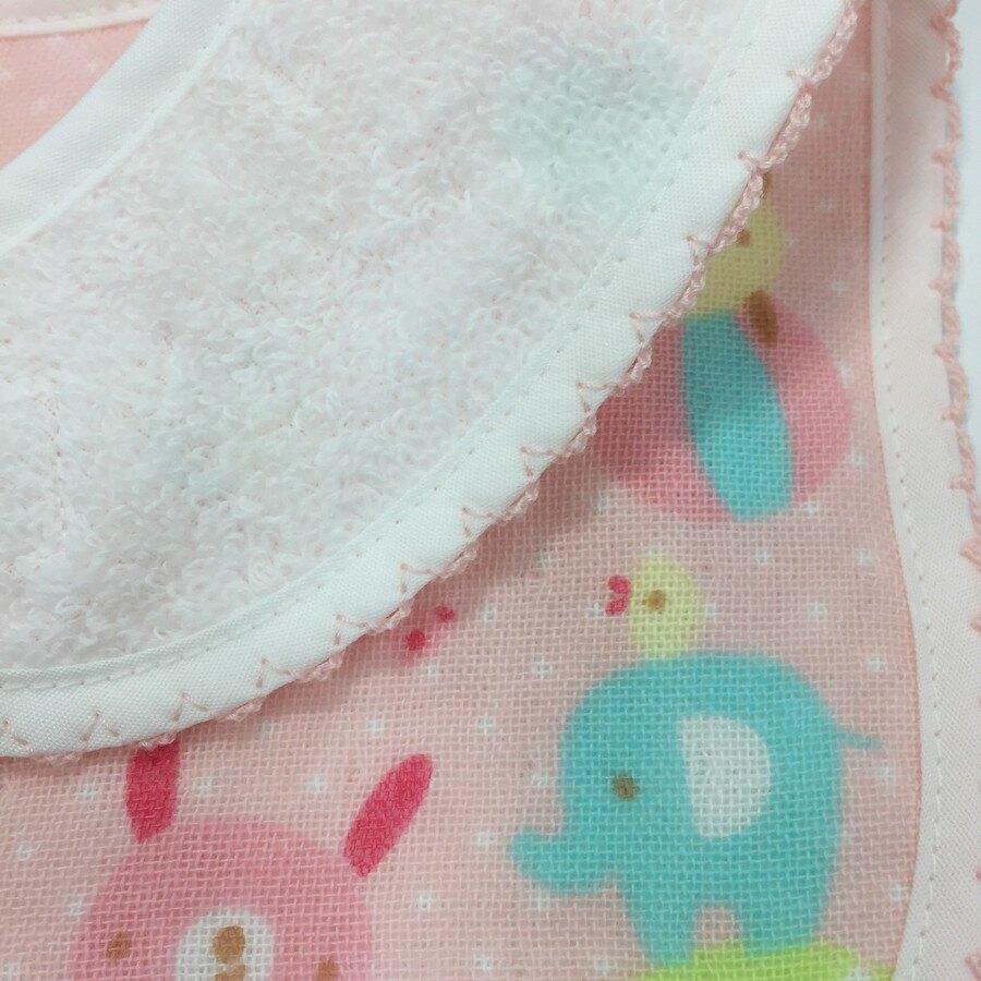 【日本製】【anano cafe】日本製 快樂寶貝 紗布圍兜兜 藍色 - 日本製