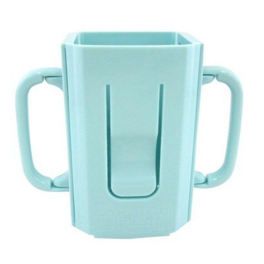 【日本製】【anano cafe】日本製 伸縮式 寶寶學習杯架 藍色(一組:3個) - 日本製