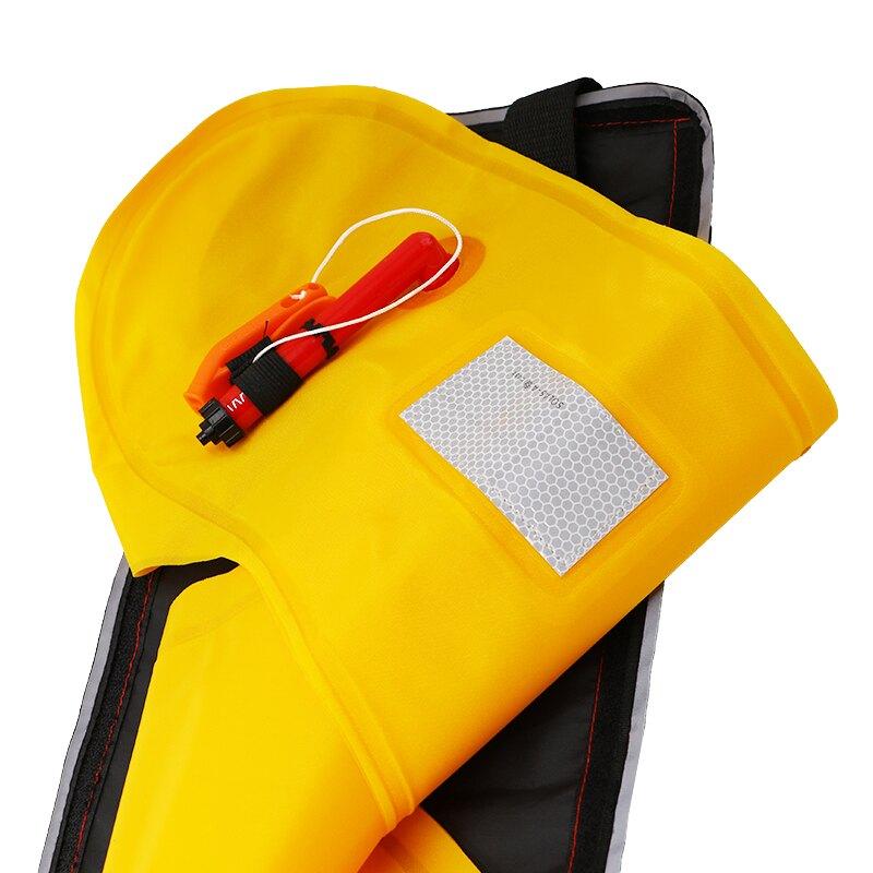 釣魚救生腰帶式安全救生衣大人自動充氣救生圈便攜式游泳浮力成人