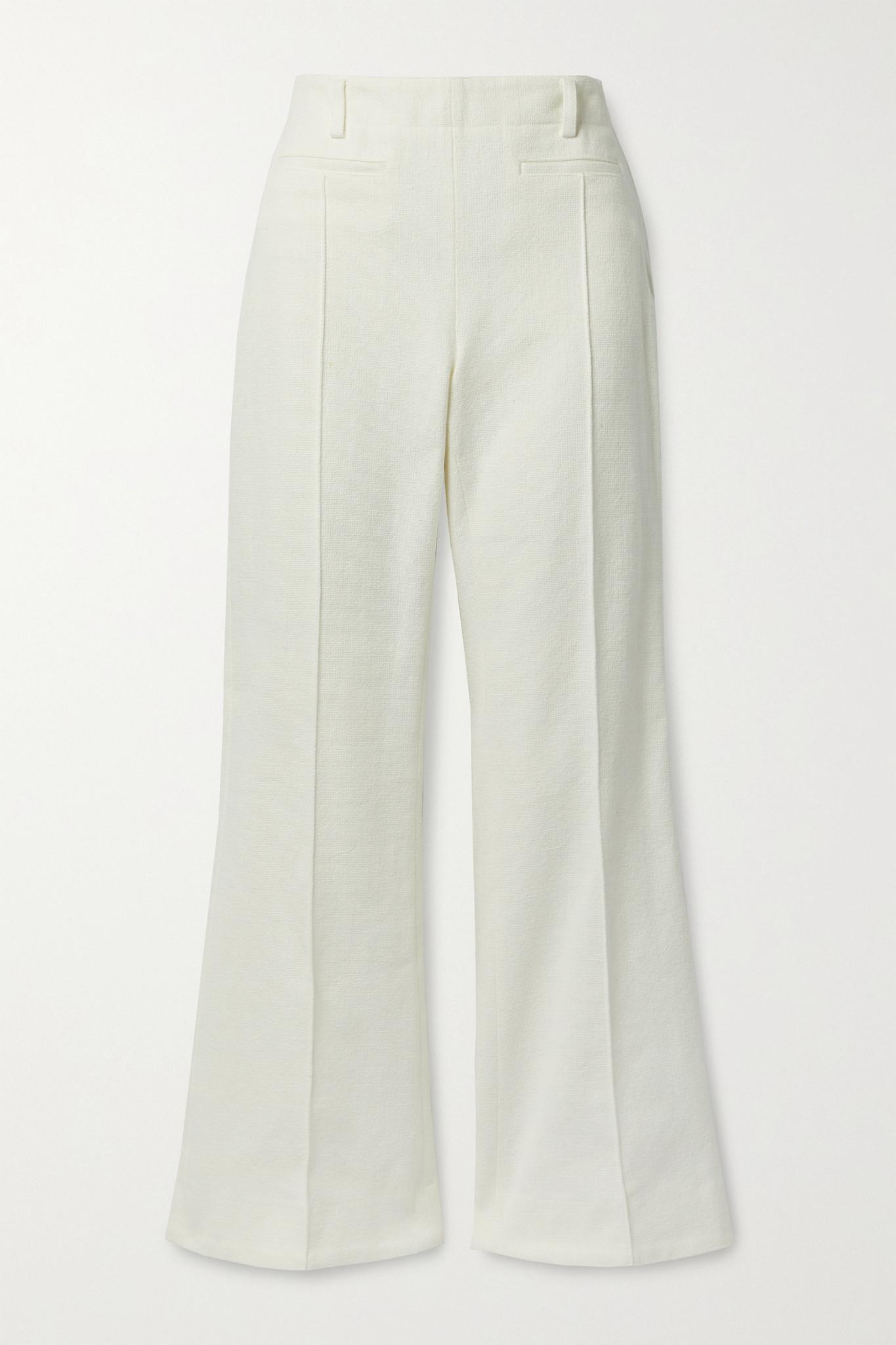 ACNE STUDIOS - Cotton-canvas Bootcut Pants - Ivory - FR38