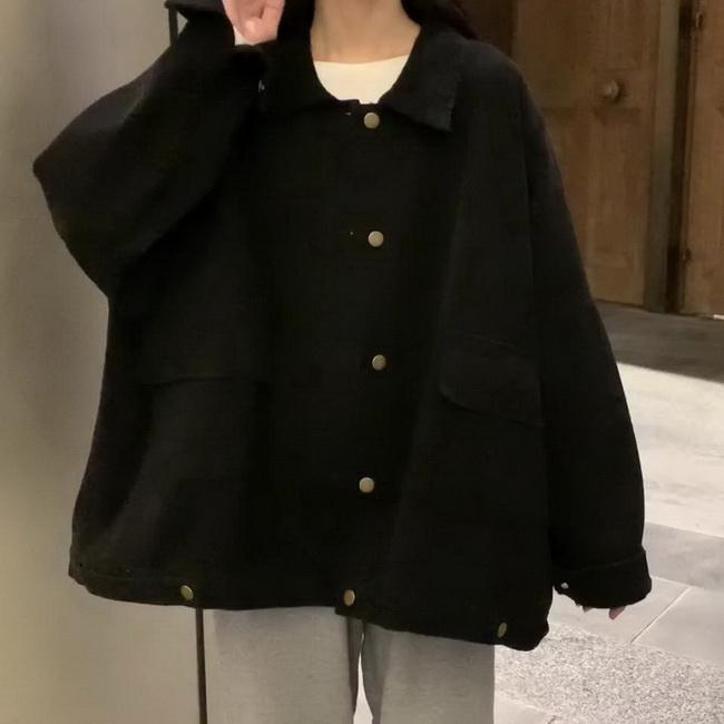 FOFU-裝時尚學院風大口袋長袖工作風外套女寬鬆BF上衣潮【08SG05446】