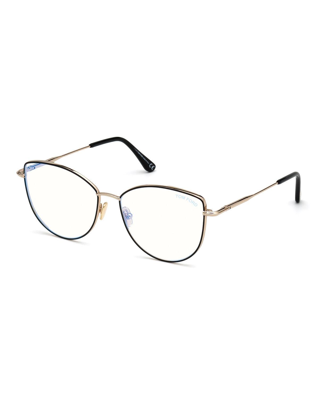 Cat-Eye Metal Optical Frames