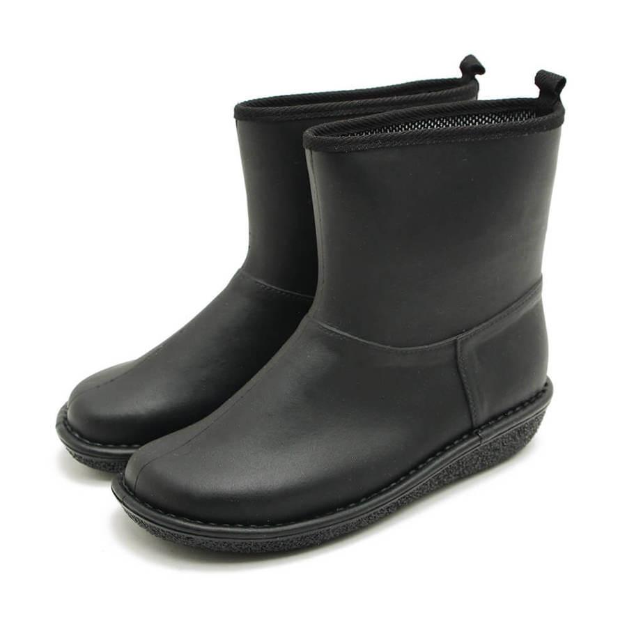 【日本製】日本製 短版 雨靴 灰色 L -