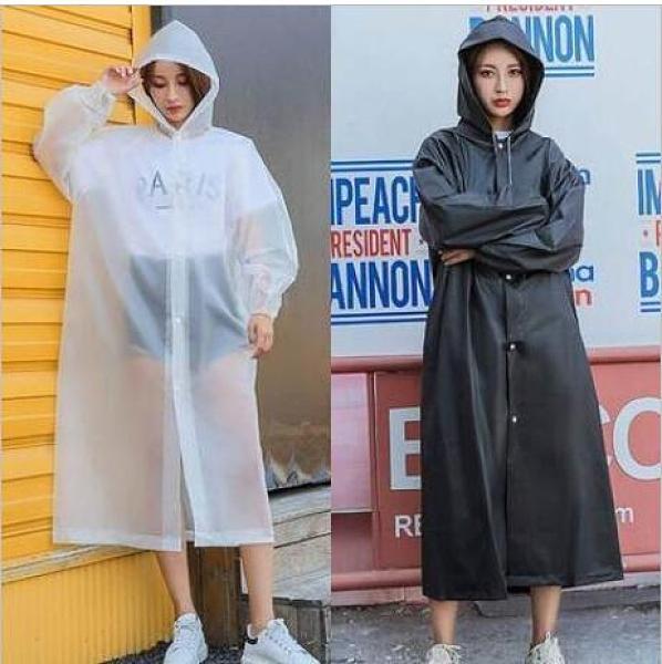 時尚雨衣外套男女加厚成人便攜防水戶外旅遊連體通用非一次性雨披