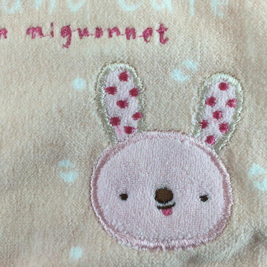 【日本製】【anano cafe】日本製 嬰幼兒圍兜兜 刺繡圖案 粉紅色 - 日本製