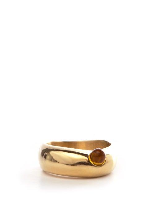 Anita Berisha - Formation 14kt Gold-plated Ring - Womens - Yellow Gold
