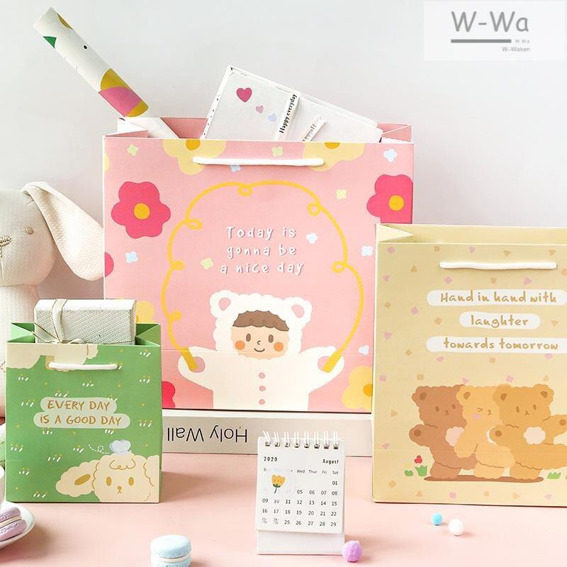 可愛鼠年禮盒禮袋 創意紅色春節禮物新年年貨禮盒包裝盒 艾琴海小屋