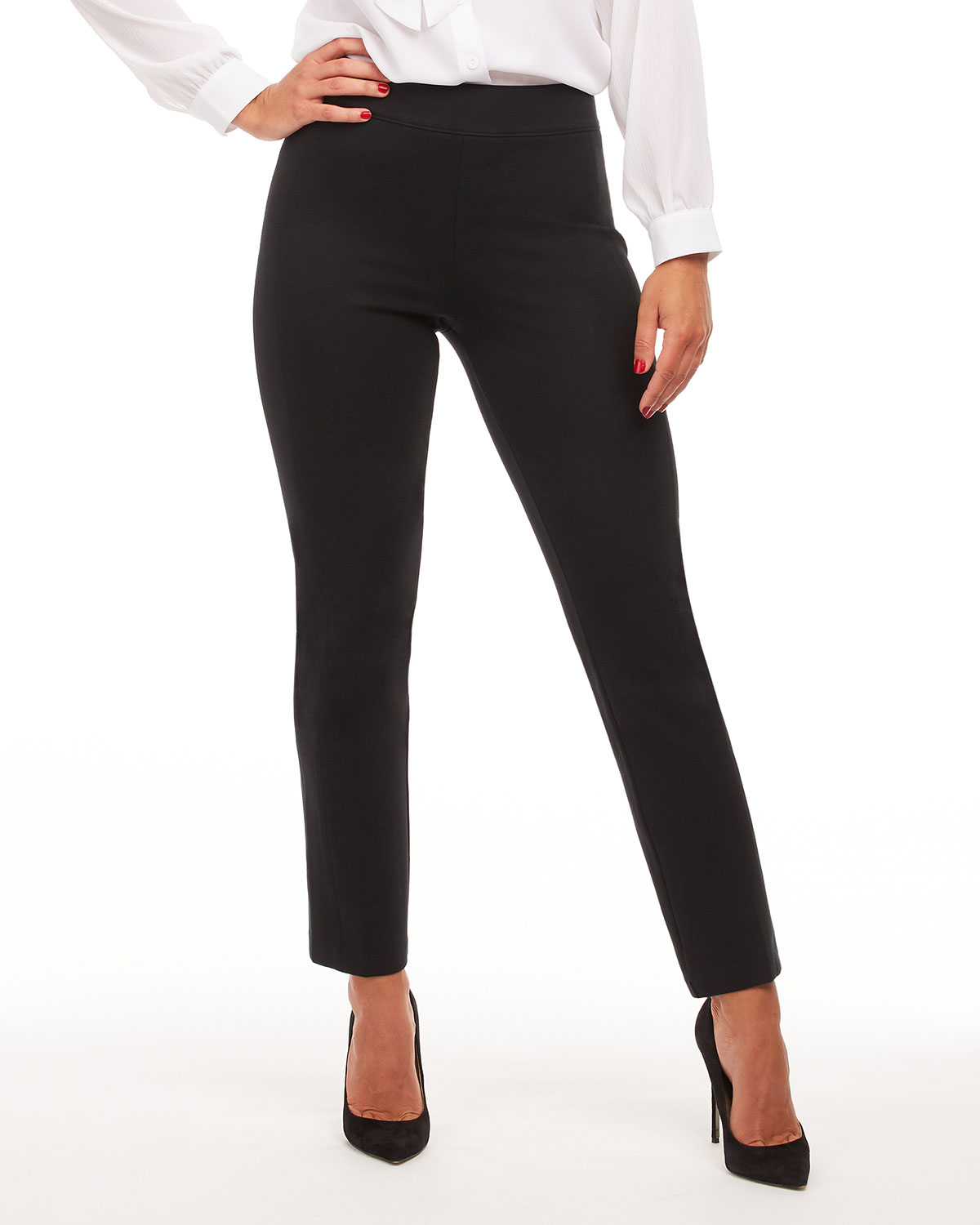 The Perfect Black Slim Straight Pants