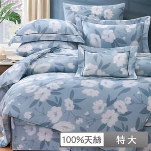 【貝兒】裸睡系列60支天絲兩用被床包組(特大/佐伊)