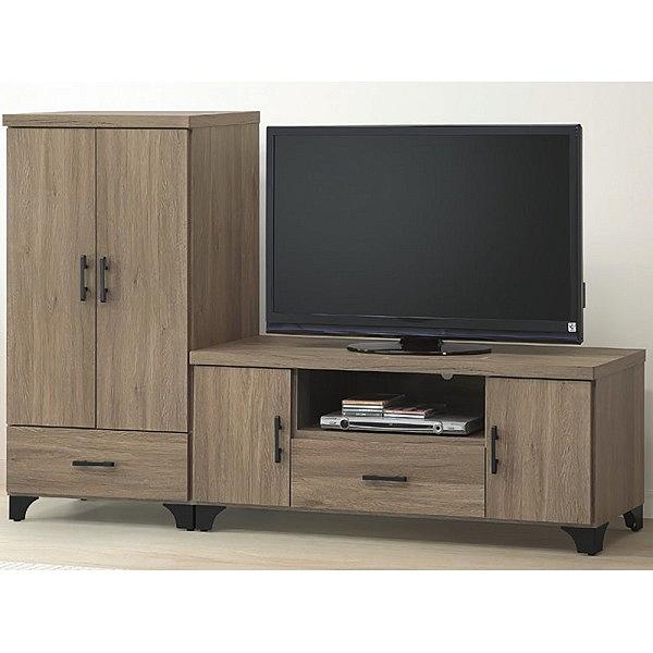 電視櫃 CV-408-96 貝拉灰橡色7尺電視櫃【大眾家居舘】
