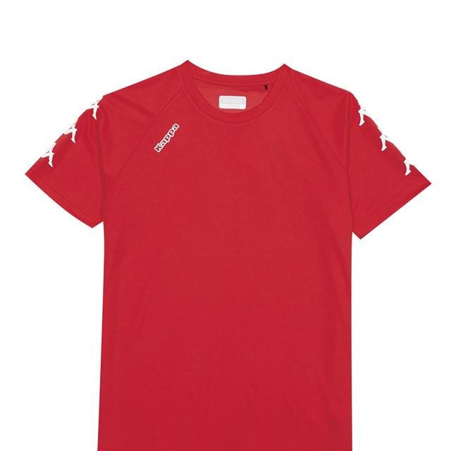KAPPA義大利 舒適時尚中性圓領T恤 紅 尺寸M 3118KBWD18