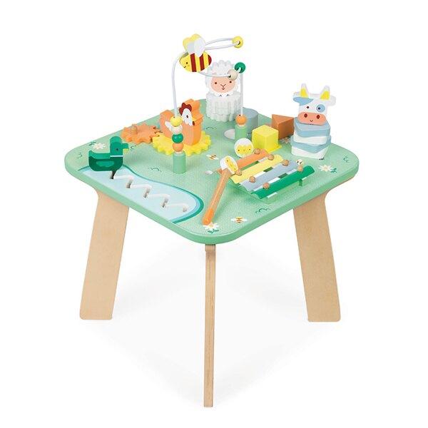 【法國Janod】幼兒智能遊戲桌   / 木製玩具 / 想像能力 / 手眼協調 / 探索能力 / 聽覺發展