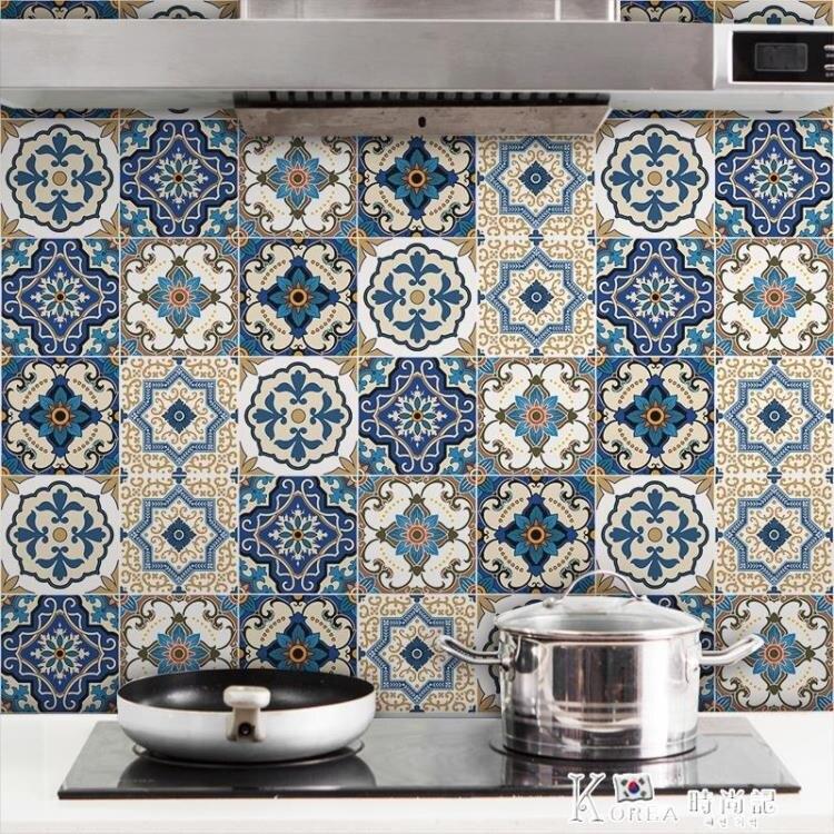 廚房防油貼紙 浴室衛生間防水瓷磚貼紙 防滑地貼裝飾自粘墻貼壁紙