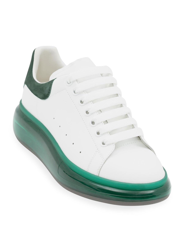 Men's Oversized Bicolor Clear-Sole Sneakers