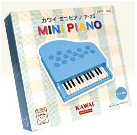 KAWAI 迷你鋼琴1185藍色玩具鋼琴 小鋼琴 兒童鋼琴 居家裝飾 Mini Piano 25鍵 1183 1185