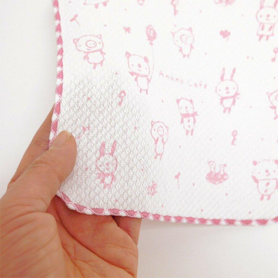 【日本製】【anano cafe】幼童用 寶寶口水巾 五件組 粉色 - ananocafe
