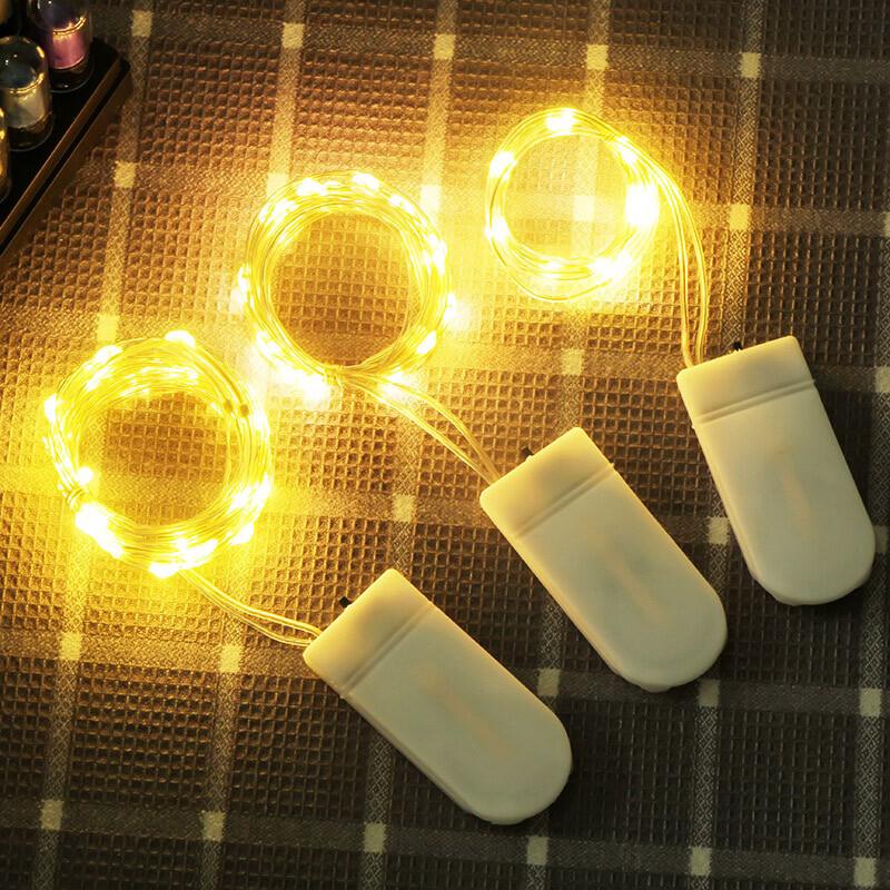 led燈串 螢火蟲禮盒氛圍 浪漫燈飾 乾燥花燈 禮盒氣氛燈 生日節日佈置 拍照道具
