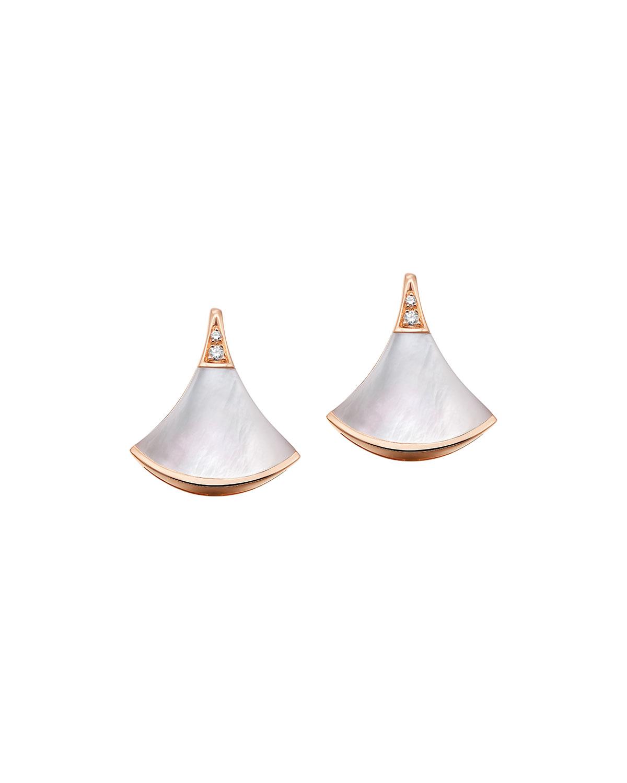 Divas' Dream 18k Rose Gold Mother-of-Pearl Earrings
