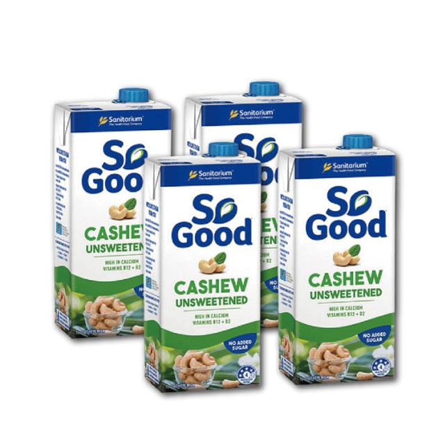 澳洲SO GOOD腰果奶(無糖/1000ml)★新鮮腰果製成,比牛奶更高鈣更低脂,乳糖不耐症都可喝(4罐669/6罐950/12罐1850)
