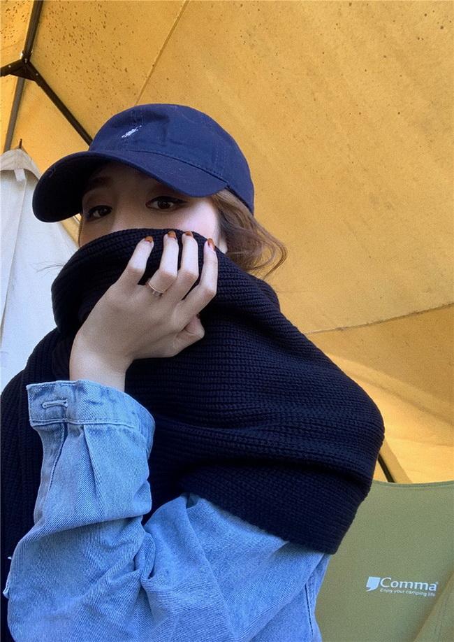 FOFU-百搭保暖針織毛衣大圍巾披肩【08SG05385】