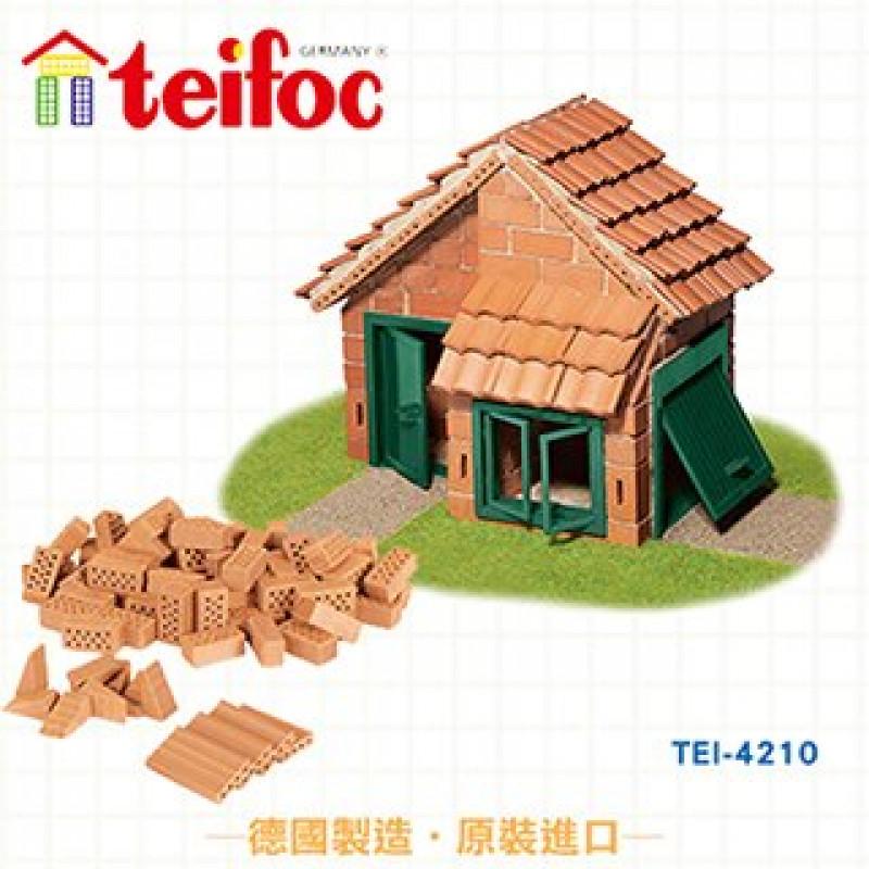 德國 teifoc - 益智磚塊建築玩具-豪華小坪房-TEI