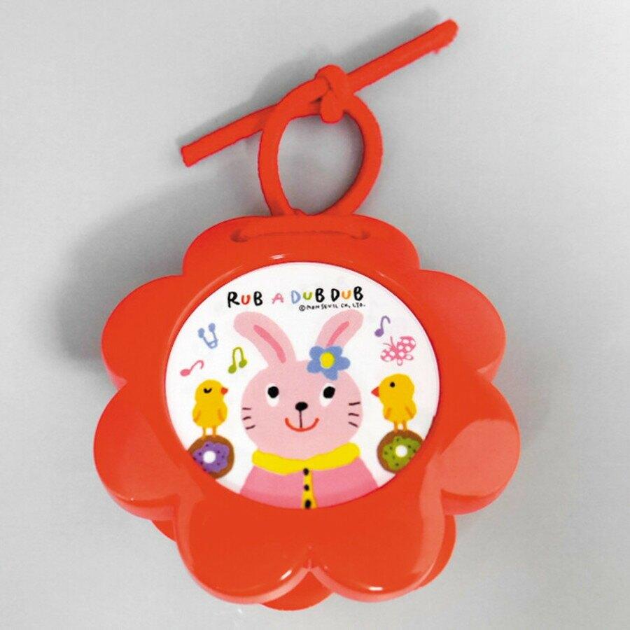 【日本製】【Rub a dub dub】幼童用寶寶玩具 動物響板 兔子(一組:3個) - Rubadubdub