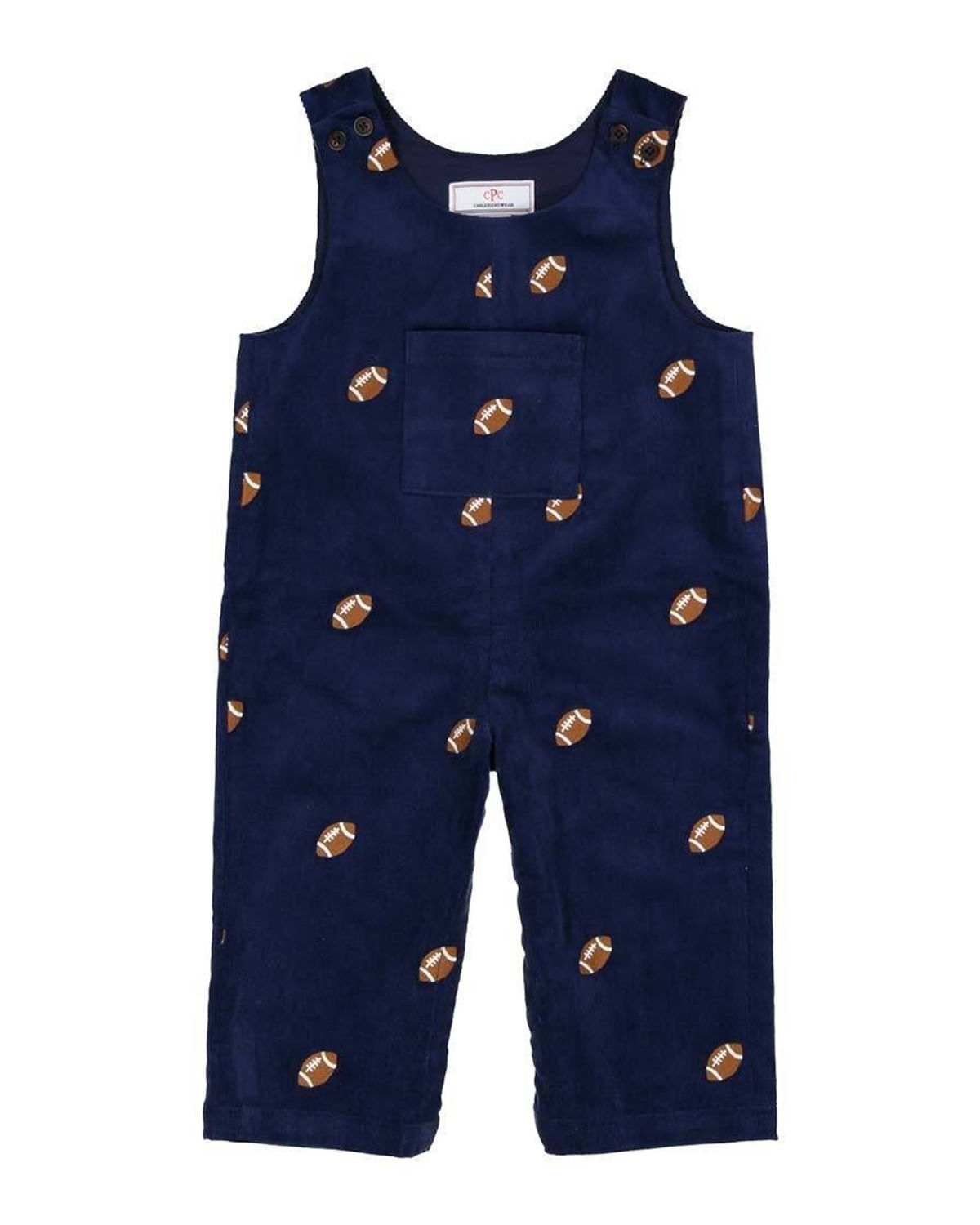 Boy's Tucker Embroidered Overalls, Size 3M-3