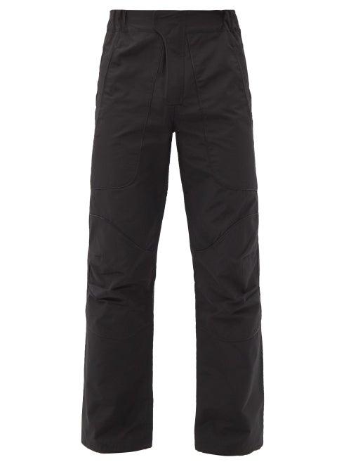 Boramy Viguier - Hiking Drawstring-cuff Cotton-blend Trousers - Mens - Black