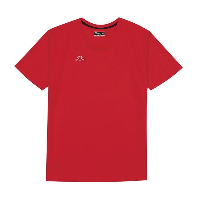 KAPPA義大利時尚男吸溼排汗圓領衫 尺寸L 紅31199KWD18