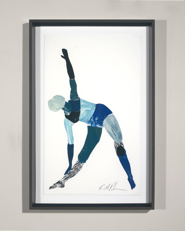 """Yoga - Triangle Pose"" Giclee Wall Art by Robert Robinson"
