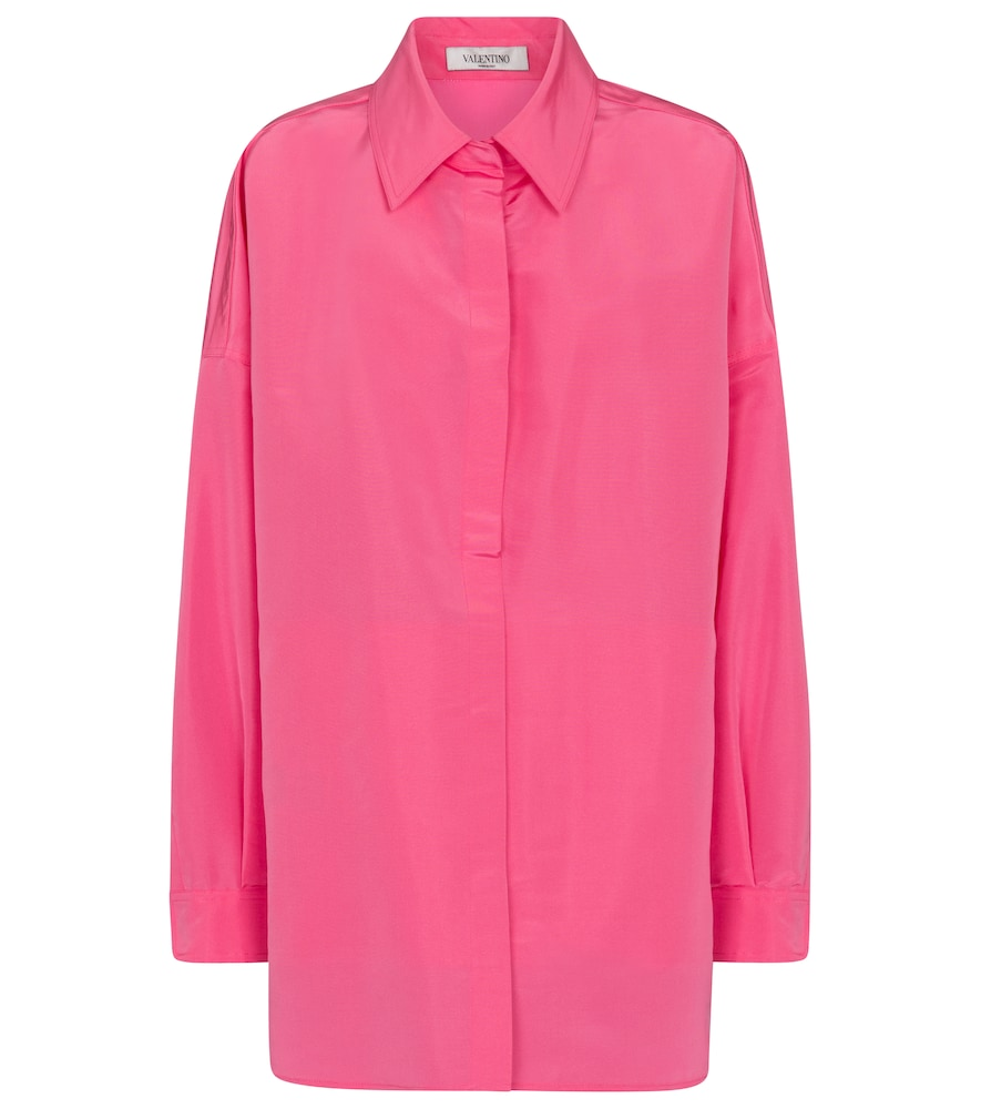 Valentino silk faille shirt