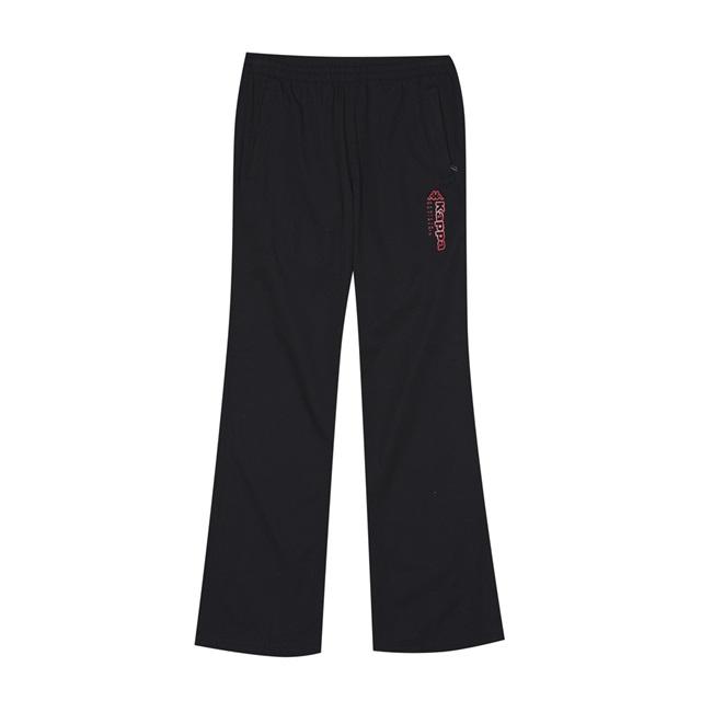 KAPPA義大利 舒適女款單層長褲 尺寸M 黑31185FW005