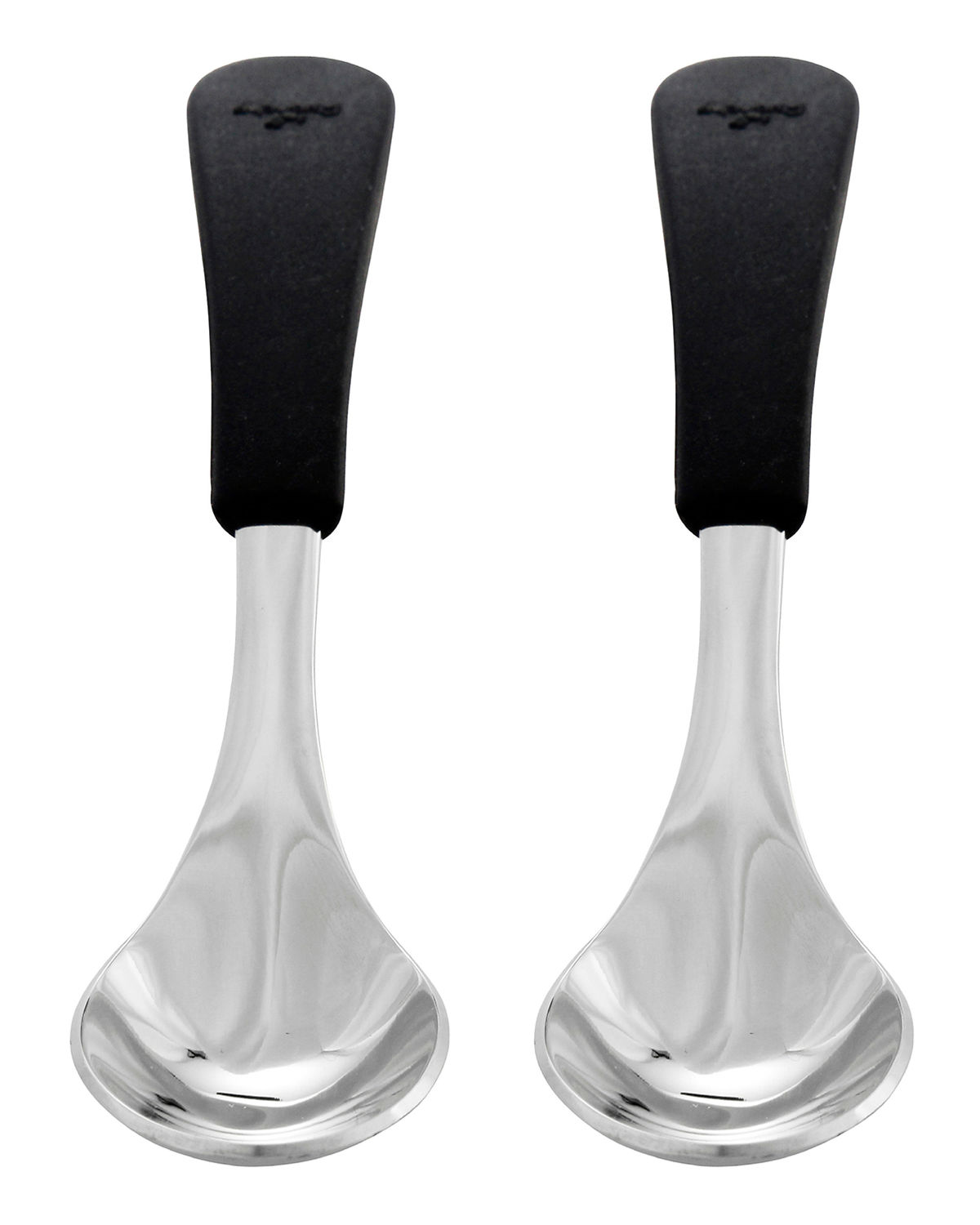 Baby's Stainless Steel & Silicone Spoons, Set of 2