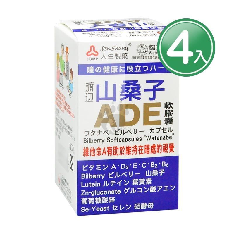 人生渡邊 山桑子ADE軟膠囊 X4入組