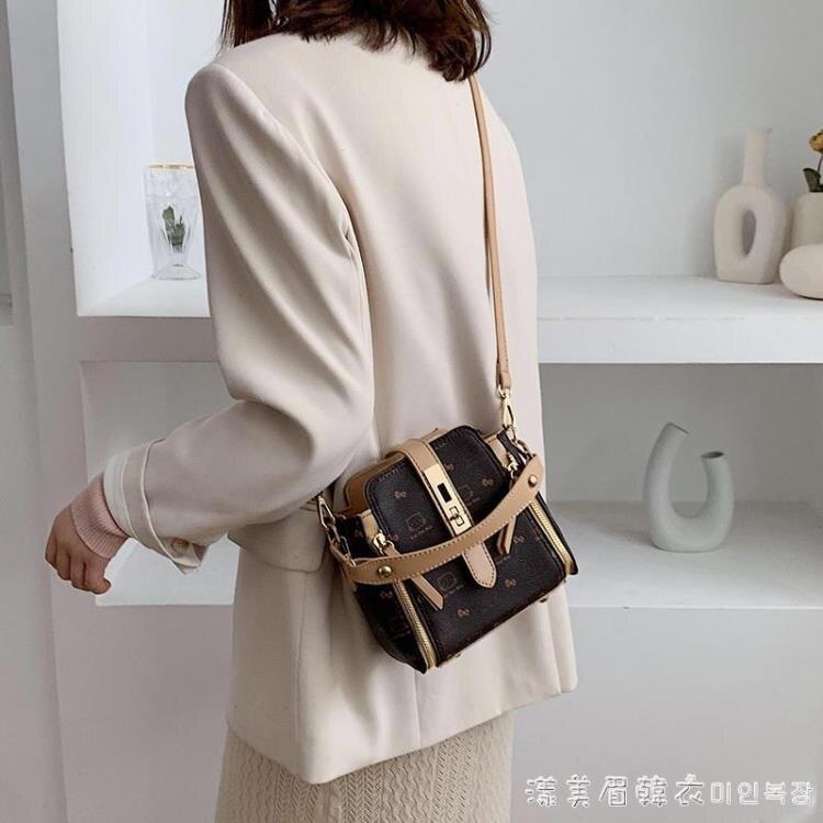洋氣小包包女包2020新款潮時尚手提印花水桶包韓版鎖扣單肩斜挎包