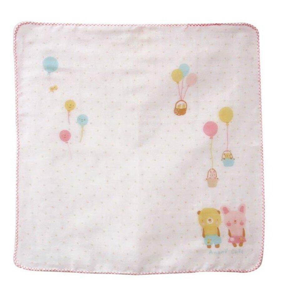【日本製】【anano cafe】日本製 嬰幼兒紗布口水巾 2入 粉紅色(一組:3個) - 日本製