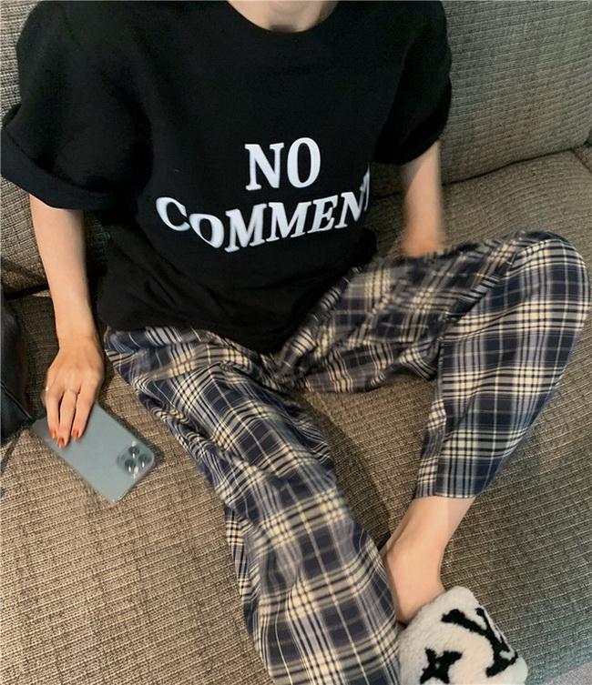 FOFU-復古百搭寬鬆字母印花中長版T恤【08SG05389】