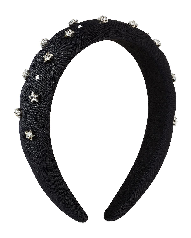 Girl's Star Embellished Padded Headband