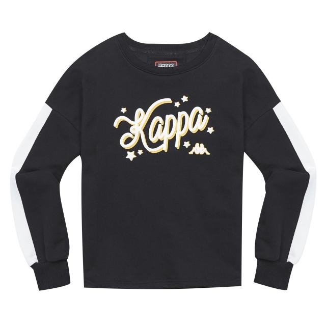KAPPA 義大利女針織長袖T恤 黑 尺寸M 37148CW005