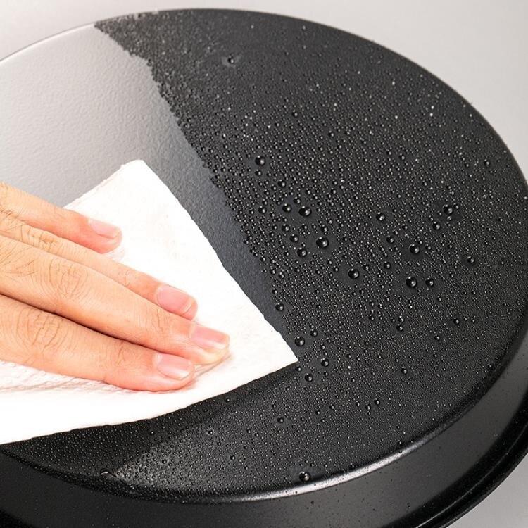 披薩盤 6寸家用不粘烤箱用8寸pizza盤烘焙蛋糕模具9寸圓形碳鋼烤盤